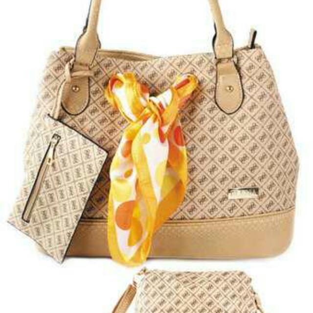 elena E- 3332 shoulder bag with sling bag and wallet
