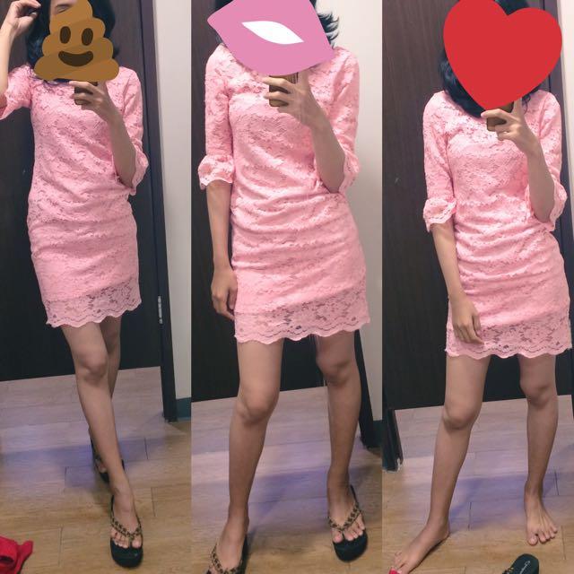 EPRISE mini dress brokat