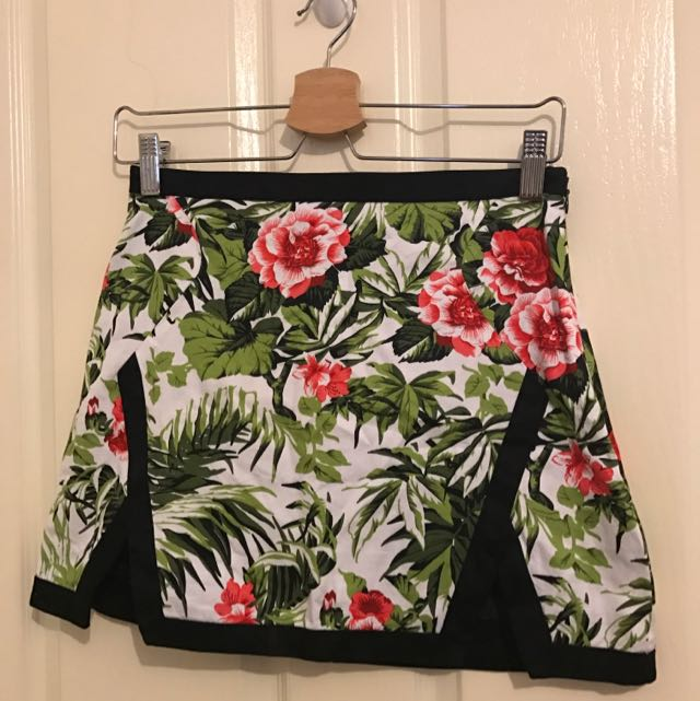 Floral Hawaiian Skirt
