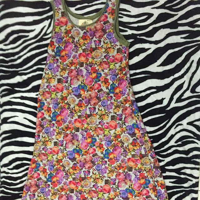 Floral Long Dress From Korea