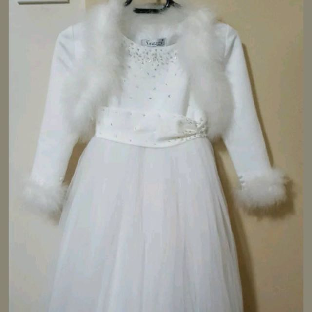 FlowerGirl Dress & Bolero Size 4 Paid $399