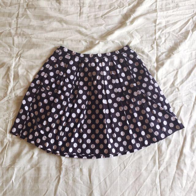 Forever21 Navy Polka Dot Skirt