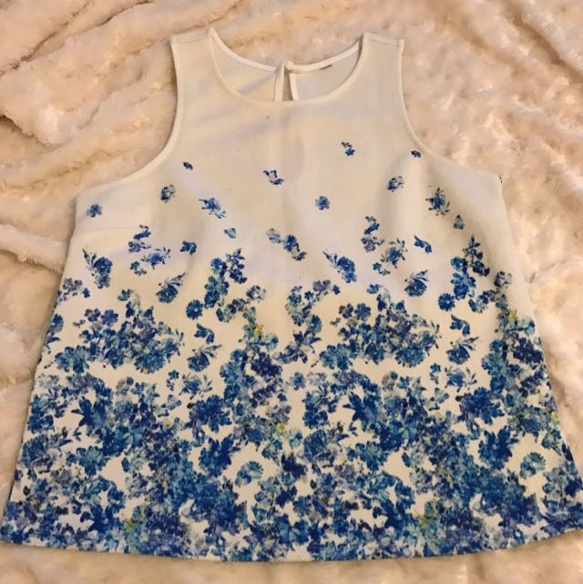 Forever New Blue Floral Top