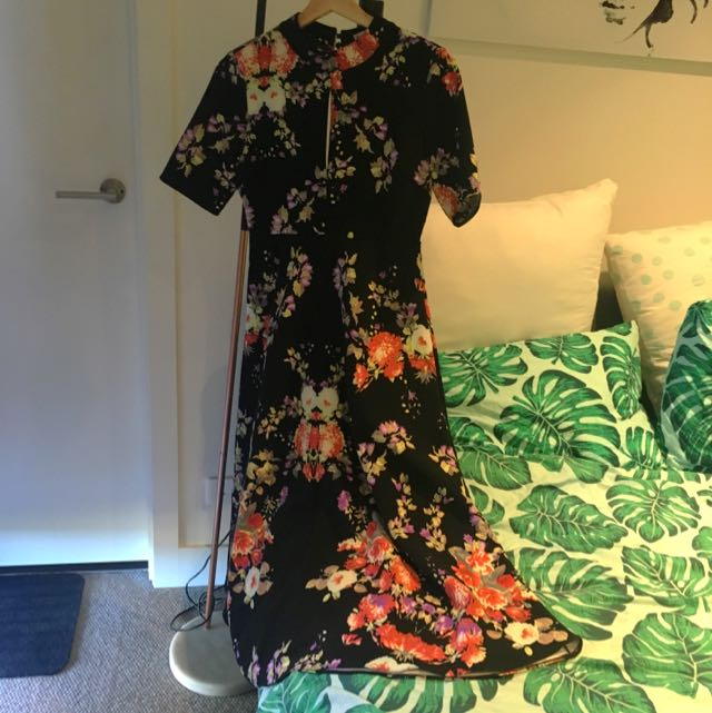 Glamorous Uk Brand - Floral Maxi Dress Size 14