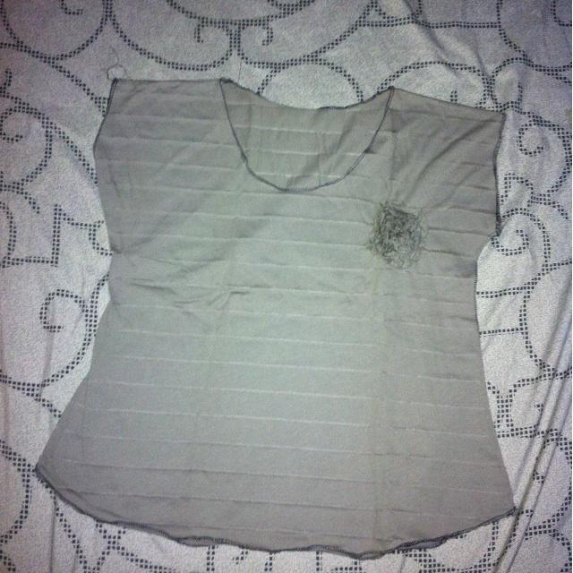 gray top / blouse