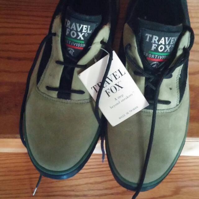 Green and Black Sport Shoes Size 10