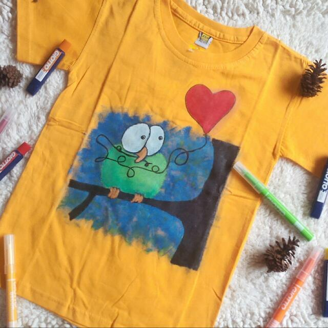Green Bird T Shirt Handmade