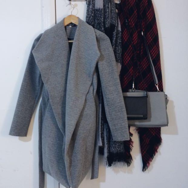 Grey Coat with Pockets