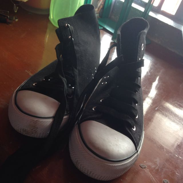 High Cut Black Rubber Shoes
