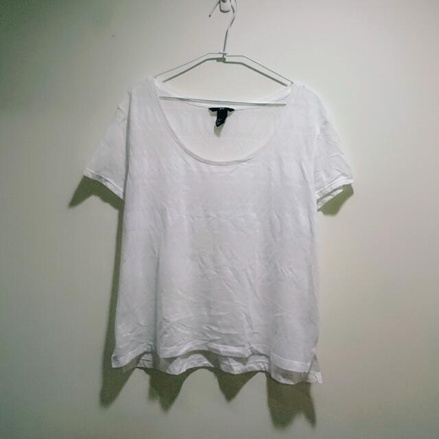 免運  H&M蕾絲花紋短袖上衣
