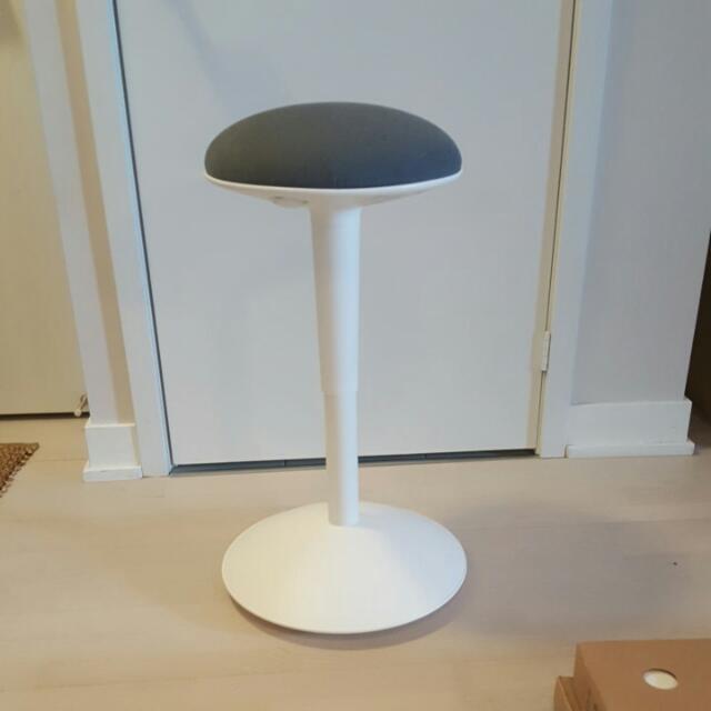 Ikea NILSERIK Standing Desk Chair In White/Vissle Grey