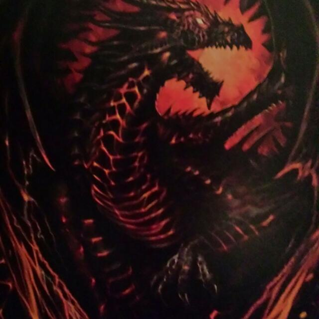 Large Gothic Dragon Painting