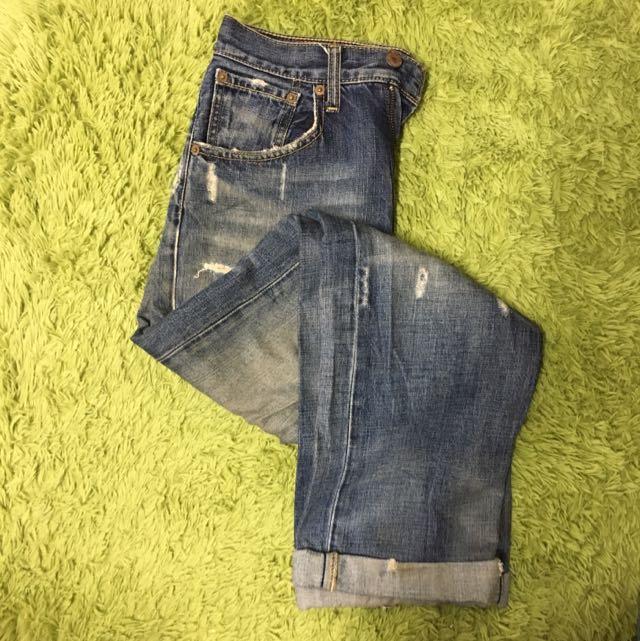 LEVIS 503 深藍破壞牛仔褲