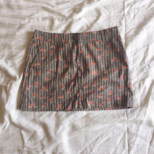 MANGO Floral Mini Skirt