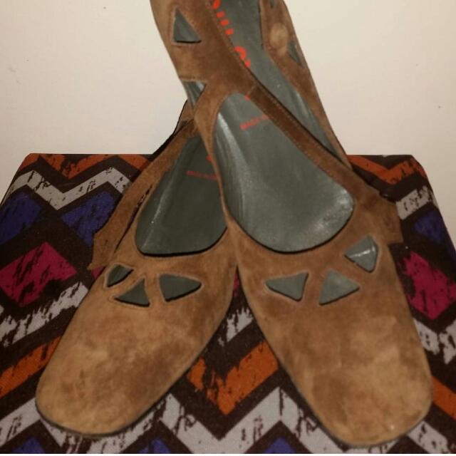 CLEARANCE SALE!!! Miu Miu Suede Mary Janes Block heels Size 8.5