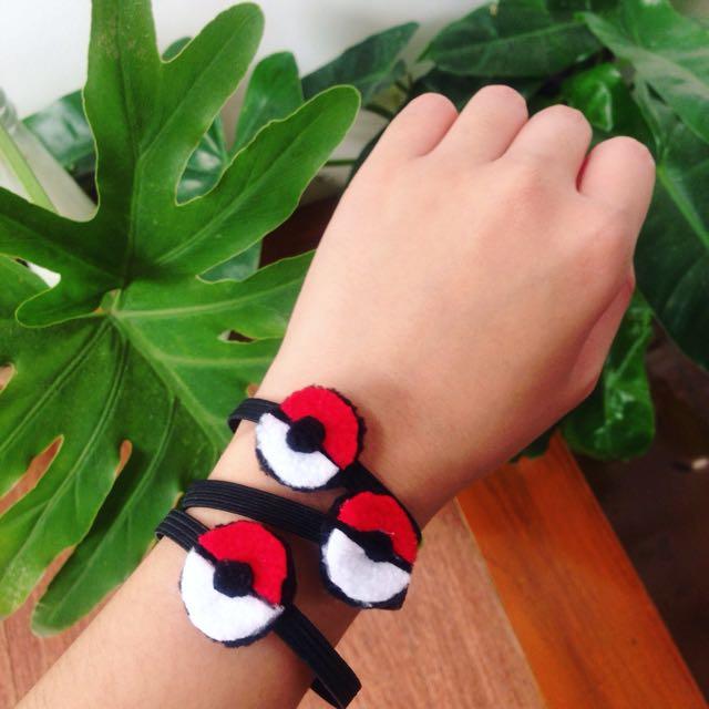 (MTO) 3 Pcs Pokemon / Pokeball Hair straps