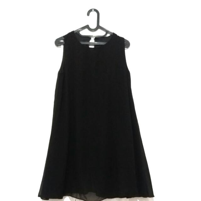 [NETT] Chiffon Black Dress