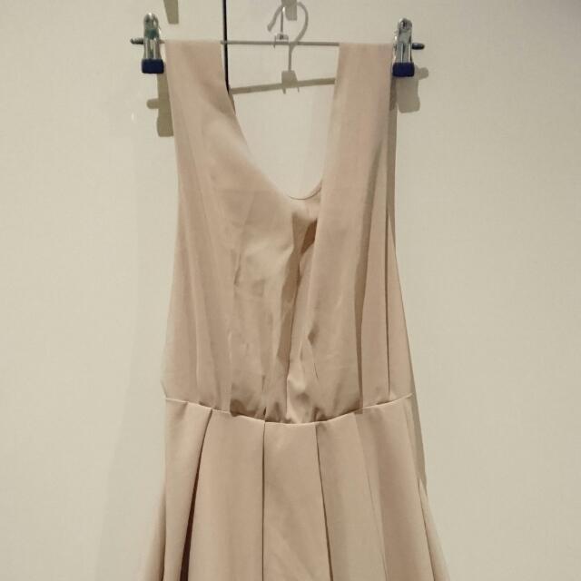 Pale tan cocktail dress