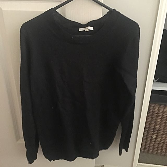Plain Black Thin Jumper