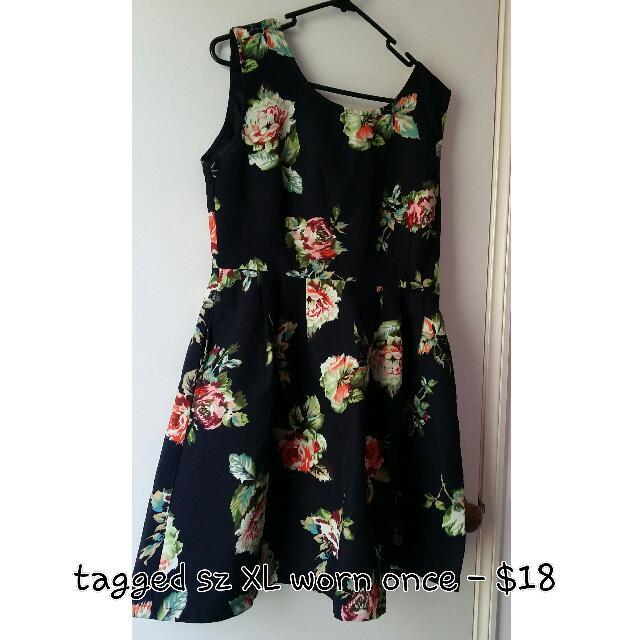 Plus Size Pretty Summer Dress / Office Wear