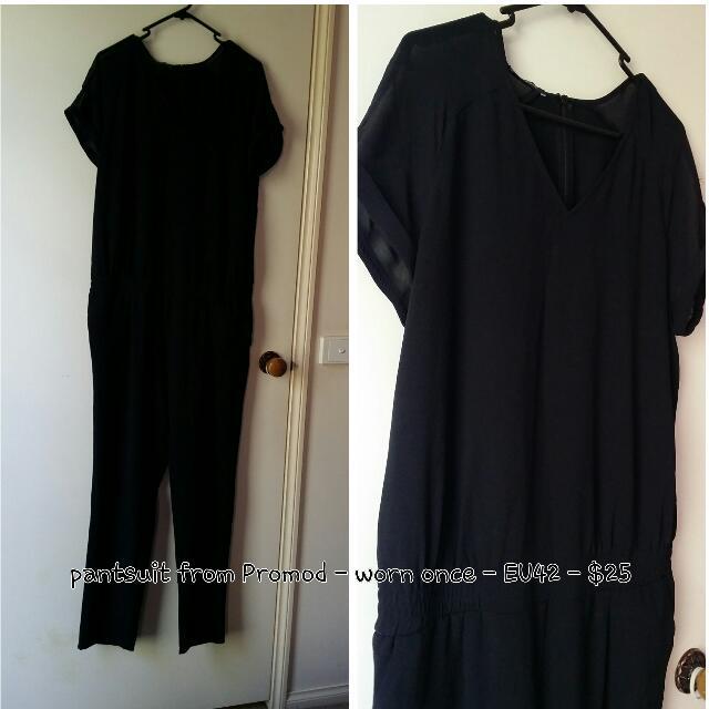 Plus Size Promod Pantsuit Jumper Workwear