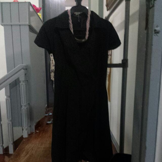 Printed Overlap Dress