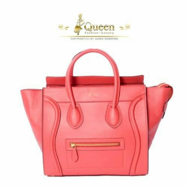 【售 Queen 微笑手提包 粉色系】