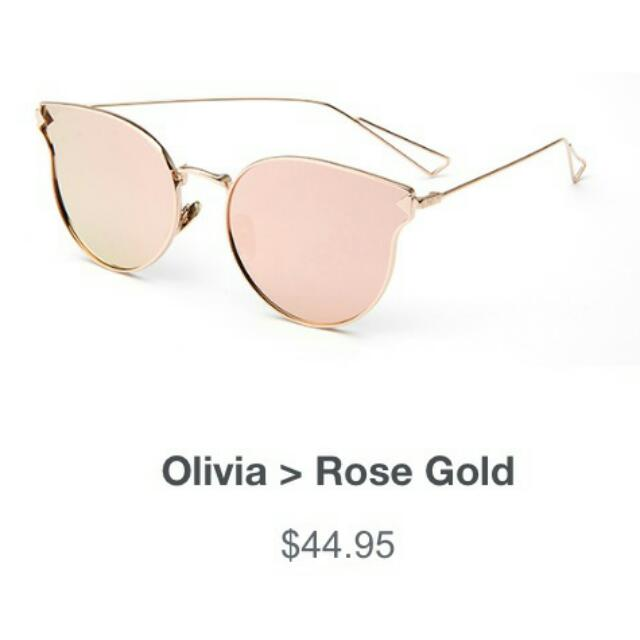 REDUCED!!! 😎 Brand New Rose Gold 'Olivia' Sunglasses