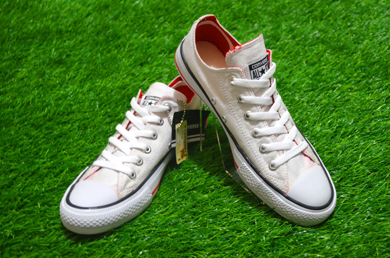 sepatu converse putih sepatu converse sepatu converse low converse lining red