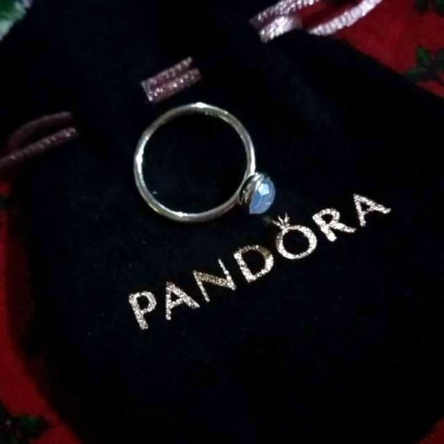 Silver Droplet Birthstone Ring :)