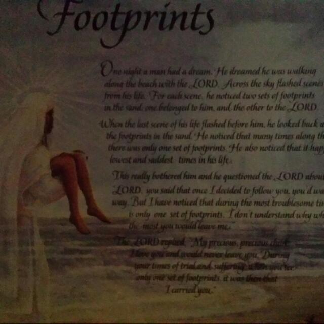 "Spiritual painting ""Footprints """