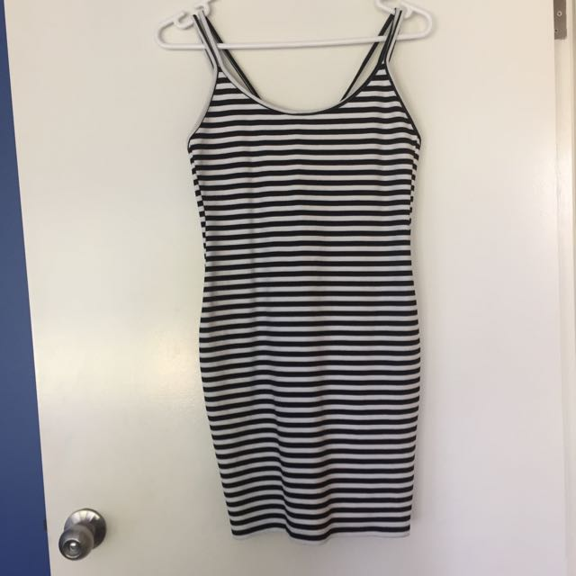 Striped Dress With Cross Back