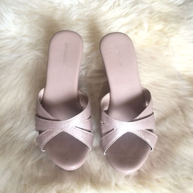 Symbolize Wedges Pink Nude