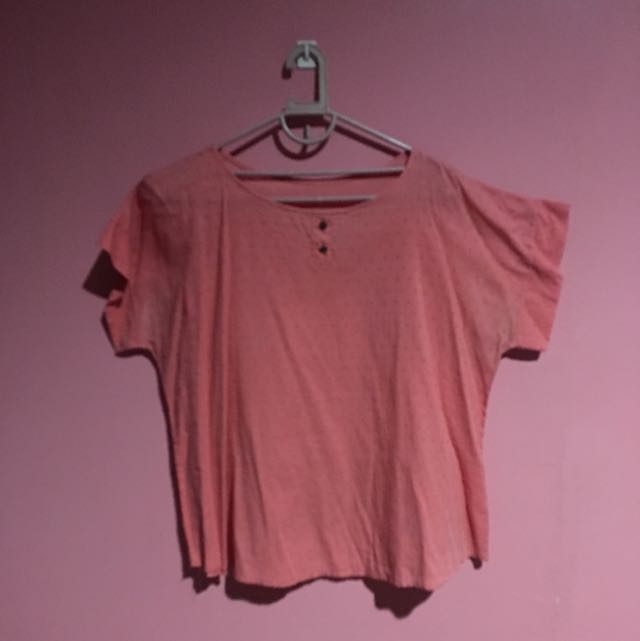 Textured Coral Top