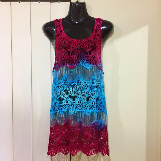 Tie Dye Beach Cover Up Dress
