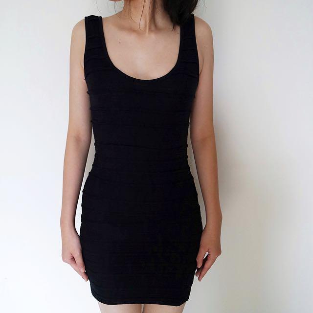TOPSHOP Black Bandage Dress