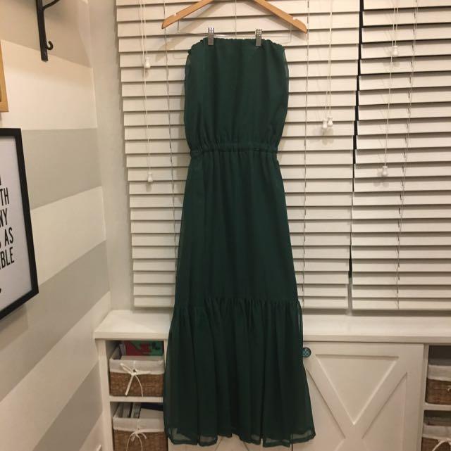 Una Rosa tube dress