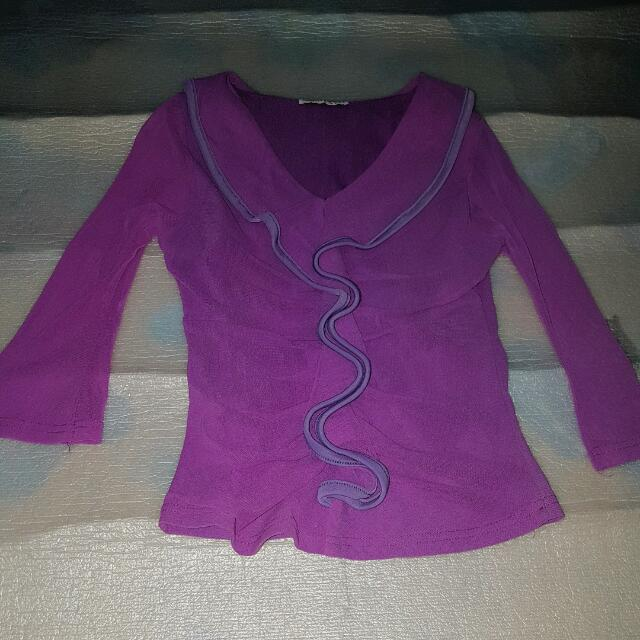 Violet 3/4 Top Pre-loved