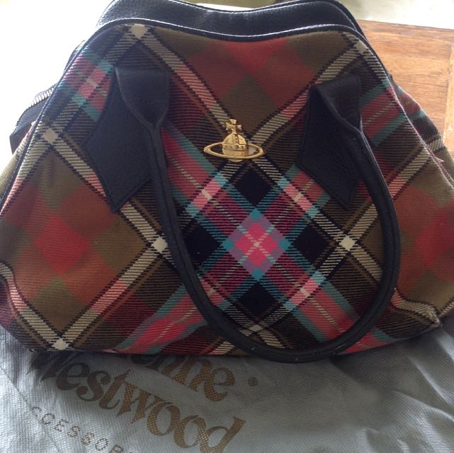 Vivienne Westwood Checked Bowling Bag