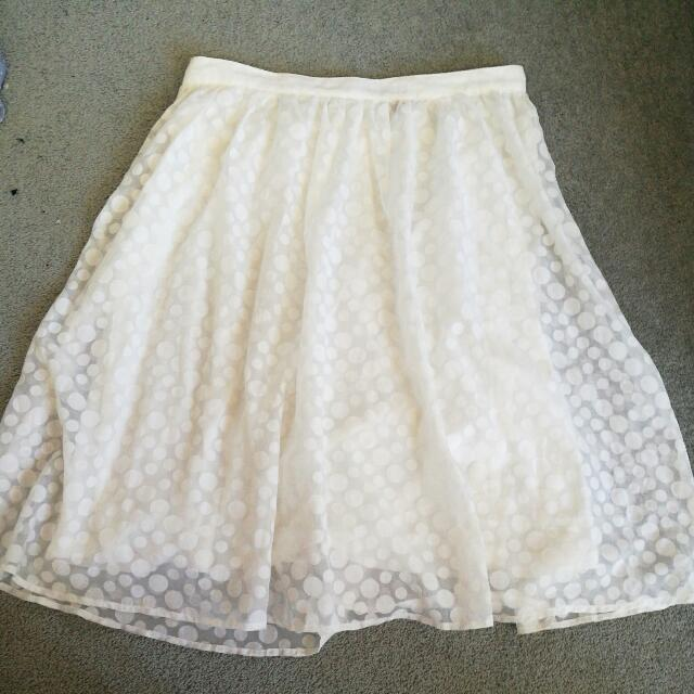 White Sheer Skirt