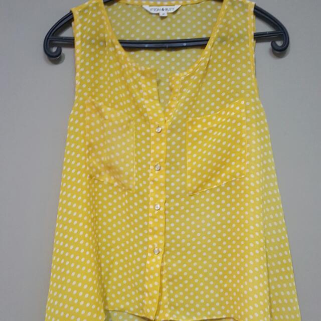Yellow Polkadot Sleeveless