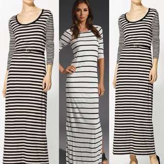 Forever 21 Long Stripes Dress