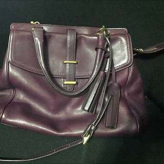 Coach Plum Tote And Shoulder Bag
