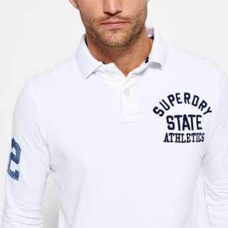 🚚 【現貨XS】Superdry極度乾燥 Super State長袖Polo衫