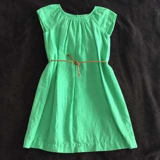 Zara Green Cotton Summer Dress