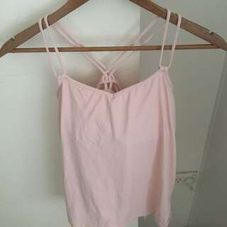 Lululemon Pale Pink Yoga Top Size 10 / Size 6 US