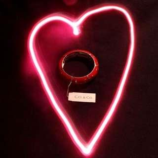 C.O. & CO. Silver & Red Segmented Polka Dot Bracelet