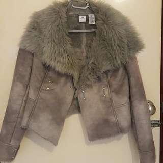 A/X Armani Exchange Cropped Faux Fur Coat