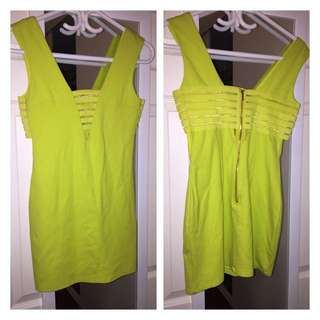 BEBE Yellow Dress