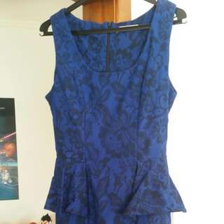 Peplum Minidress